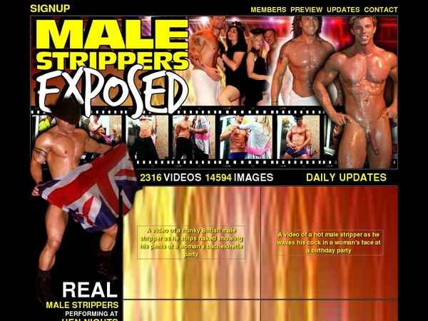 Male Strippers Exposed Account Info