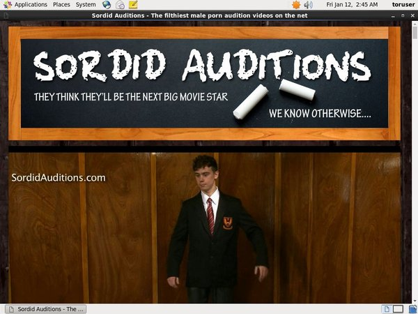 Sordid Auditions Discount Code