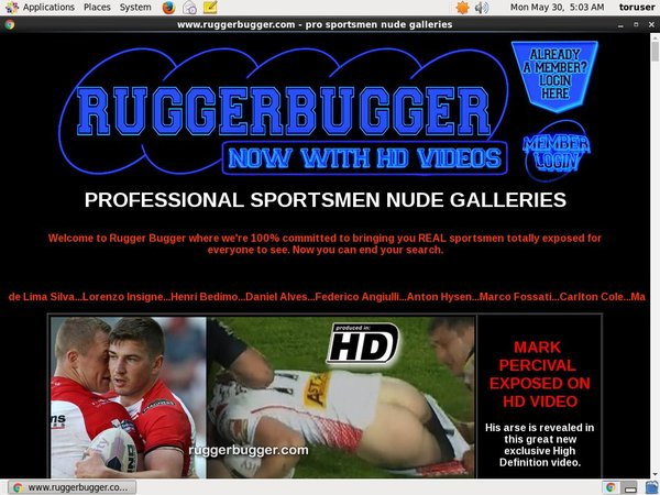 Rugger Bugger Website Password